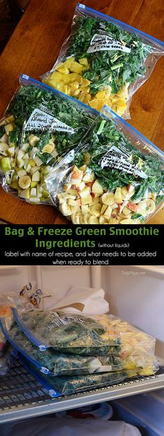A healthy start to the day doesn't get much better (or easier!) than this. Easy Prep tips for Green Smoothies at TidyMom.net