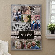 "Perfect ! Family+Photo+Memories+Personalized+Canvas+Print+-+24""x36"""