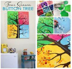4 Seasons Button Tree Wall Art Is Gorgeous