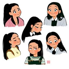 Lara Jean - now in colour 🌈🌟 Lara Jean, Male Character, Character Drawing, Character Illustration, Cute Girl Illustration, Forest Illustration, Character Sketches, Landscape Illustration, Cartoon Kunst