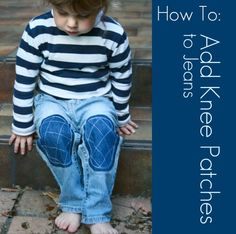 If your kids are constantly wearing the knees out of their pants or jeans, you are going to love this easy to follow tutorial. This patching technique is useful for all trousers, big or small, but especially small.