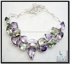 Gemstone Silver Necklace by Riyo Gems www.riyogems.com