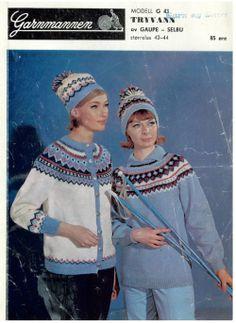 Tryvann G 43 - Garnmannen Captain Hat, Wool, Knitting, Jumpers, Crochet, Vests, Pattern, Jackets, Retro