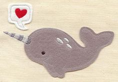 Narwhal (Applique)   Urban Threads: Unique and Awesome Embroidery Designs