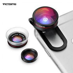 VicTsing Clip-op Telefoon Lens Fisheye Lens + Macro + Macro Lens 3 in 1 lens kit voor iphone 7 6 s plus 6 samsung (geen Doos) Iphone Camera Lens, Android Camera, Camera Apps, Macro Camera, Iphone 7, Samsung, Nikon, Blackberry Bold, Fotografia Macro