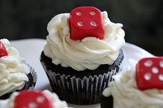 Chocolate Dice Casino Theme Cupcake