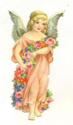 Glanzbilder - Victorian Die Cut - Victorian Scrap - Tube Victorienne - Glansbilleder - Plaatjes : Engel - angel - ange
