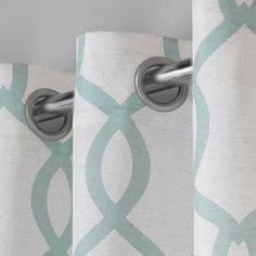 "Kochi Linen Blend Grommet Top Window Curtain Panel Pair Sea Foam (54""x96"") - Exclusive Home Seafoam"