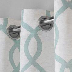 "Kochi Linen Blend Grommet Top Window Curtain Panel Pair Sea Foam (54""x96"") - Exclusive Home Seafoam"
