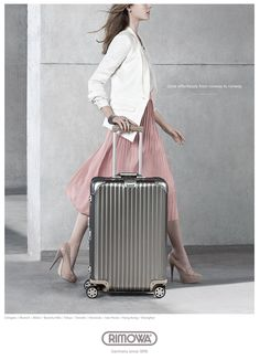 I recommend Rimowa luggage. People are always amazed when I push it with my pinky.