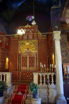 synagoguesoftheworld:  Inside of former synagogue (now Jewish Museum). Cairo, Egypt.