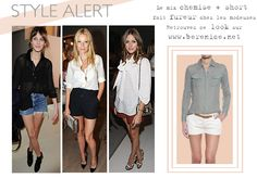 Get inspiration from street icons and shop our shorts and shirts at www.berenice.net / street style / celeb style/