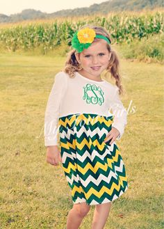 A personal favorite from my Etsy shop https://www.etsy.com/listing/248010438/green-gold-dress-green-bay-packers-dress
