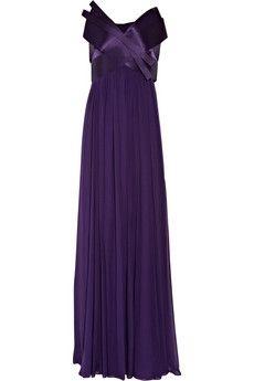 Notte by Marchesa|Silk-chiffon strapless gown|NET-A-PORTER.COM - StyleSays