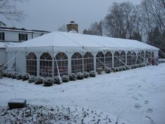 The Serene Beauty of a Wintertime Tent