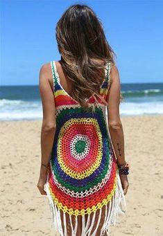 Crochet Blouse, Crochet Poncho, Crochet Bikini, Knit Crochet, Diy Crafts Crochet, Bikini Modells, Crochet Woman, Hippie Outfits, Crochet Clothes