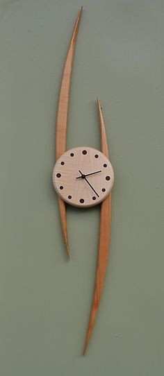 Slope Clock: Steve Uren: Wood Clock | Artful Home