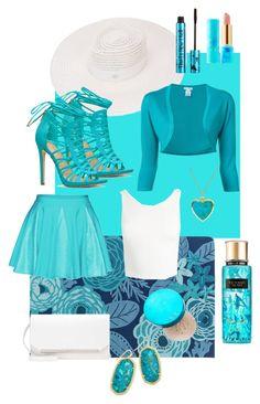 """Aqua marine"" by todaylifestyle ❤ liked on Polyvore featuring Maison Michel, Décor 140, Sans Souci, Oscar de la Renta, Kendra Scott, Barry M and tarte"