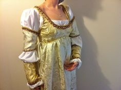 Golden Italian Renaissance Gown by GreenwoodCreations13 on Etsy