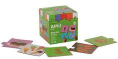 Играй и учи с APLI Kids 13186 Пъзел - Числата. Безопасна играчка за деца над 3 години.