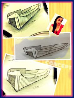 This unique piece is good for your living room as an accent standing beside your living seats set , as an ash tray with stand and as a sculpture and as a standi. Sketching, Love Seat, Concept, Ash, Tray, Design, Gray, Trays