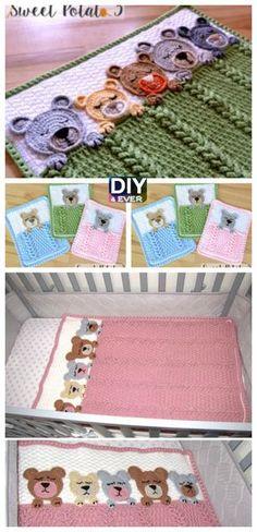 Sleep Tight Teddy Bear Blanket – Free Pattern #free pattern