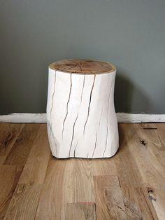 Tree stump side table - from the Elizabeth Element, by Kristen Kruchowski