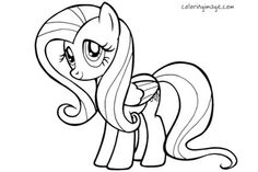 Fluttershy Coloring Sheet