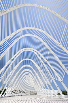 This is my Greece | The Olympic Agora by Santiago Calatrava is comprised of 99 parabolic arches linked to form a ceremonial route across the Athens Olympic site