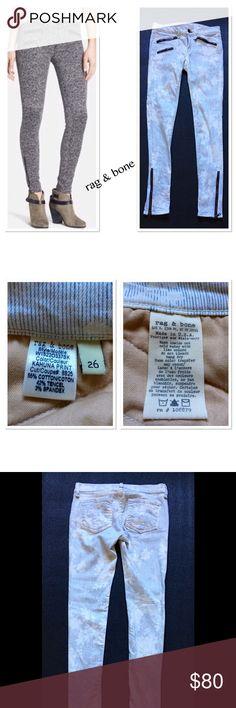 "rag & bone Kahuna Print Skinny Jeans 28"" inseam, 9"" leg opening. Made for Saks Fifth Avenue.  Like new condition. rag & bone Jeans Skinny"