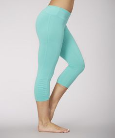 Another great find on #zulily! Waterfall Pleated Capri Leggings by Balance Collection #zulilyfinds