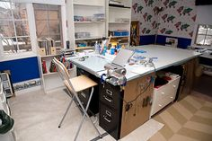 """awesome """"diy"""" cutting/sewing table idea"""