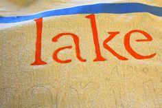 peintes chute oreillers en tissu