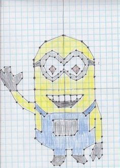 This is a coordinate plane activity that includes plotting points in all Math Art, Fun Math, Maths, Minion Classroom, Classroom Ideas, Sixth Grade Math, Graphing Activities, Math Resources, Teaching Math