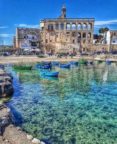 San Vito - Polignano a mare - Puglia - ITALIA - Patrones Tutorial and Ideas Places Around The World, The Places Youll Go, Travel Around The World, Places To See, Around The Worlds, Italy Places To Visit, Vacation Places, Dream Vacations, Vacation Spots