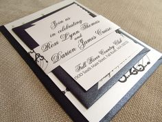 Roxi Chandelier Wedding Invitation Suite. $3.50, via Etsy.