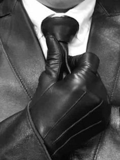 suitably dressed | leather gloves and tie | fashion | style