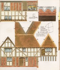Toys and Stuff: Kellogg's UK Paper Village Sheet 2 Pt 2 - Butcher Shop & Sweet's Shop & Marx Paper Building Paper Doll House, Paper Houses, Free Paper Models, Paper Structure, House Template, Paper Towns, Toy House, Putz Houses, Glitter Houses
