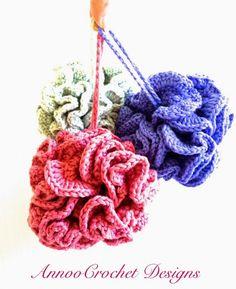 Loofah-style #crochet bath scrubbies free pattern from Annoo's Crochet World