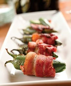 Jalapeno Poppers. Remember--wear gloves when handling hot peppers.