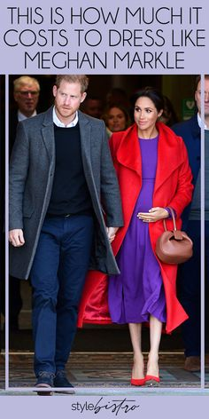 Meghan Markle's Red Coat & Purple Dress Are A Major Departure For The Duchess Meghan Markle Suits, Meghan Markle Style, Meghan Markle Today, Meghan Markle Prince Harry, Prince Harry And Meghan, Lady Diana, Celebrity Outfits, Celebrity Style, Kate And Harry