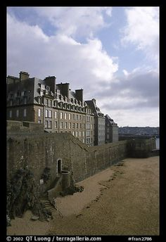 Ramparts of the old town, Saint Malo. Brittany, France