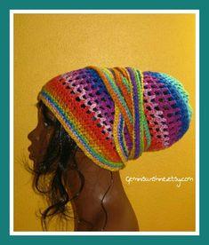 Psychedelic Sol Crochet Head Wrap by Geminisunshine on Etsy, $40.00