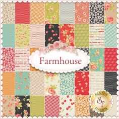 Farmhouse by Fig Tree Quilts for Moda Fabrics - Yardage: Farmhouse is a collection by Fig Tree Quilts for Moda Fabrics. 100% Cotton. This collection will feature 40 SKUs. Expected Arrival Date Is August 2015