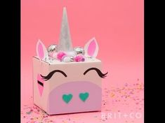 How to DIY a Unicorn Valentine's Box - YouTube