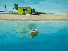 """caribbean gold by laurie chase Oil ~ 16"""" x 20""""Medium: Oil  Size: 16"""" x 20""""  Price: $395.00 USD"""