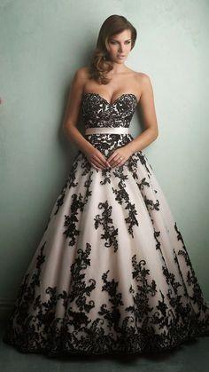 10+ Modelos de Vestidos de noiva pretos e brancos