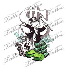 Looking for the perfect tattoo design? Here at Create My Tattoo, we specialize in giving you the very best tattoo ideas and designs for men and women. Tattoo Outline Drawing, Doodle Tattoo, Tattoo Drawings, Gangsta Tattoos, Chicano Tattoos, Tattoo Sleeve Designs, Sleeve Tattoos, Create My Tattoo, Monopoly Man