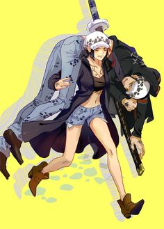 Lawko Genderbend swap Female fem Trafalgar D. Water Law carrying male (real) Law One piece art yellow One Piece Fanart, One Piece Anime, Otaku, Cartoon Movies, Cartoon Characters, One Piece Pictures, Trafalgar Law, Kawaii, Nico Robin