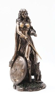 PAGAN GODDESS FREYA STATUE FIGURINE FREJA FIGURE. NORSE VIKING MYTHOLOGY